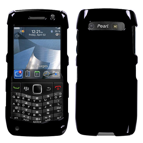 MyBat Protector Cover for Blackberry 9100 (Pearl 3G) - Solid Black
