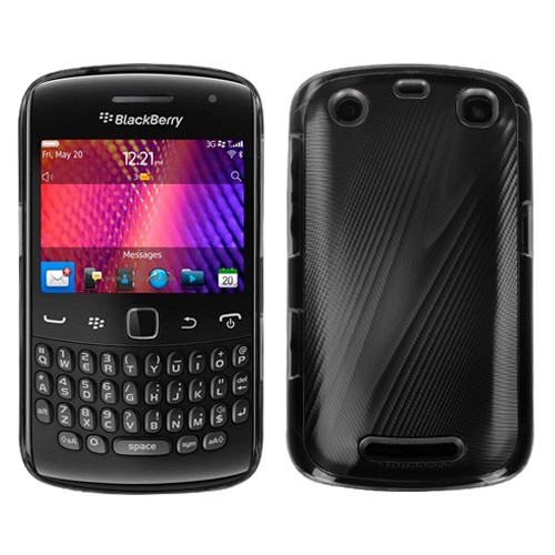MyBat Cosmo Back Protector Cover for Blackberry 9360 (Curve) - Black