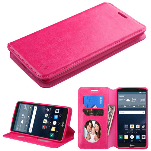 MyBat MyJacket Wallet Element Series for Lg LS770 (G Stylo) - Hot Pink