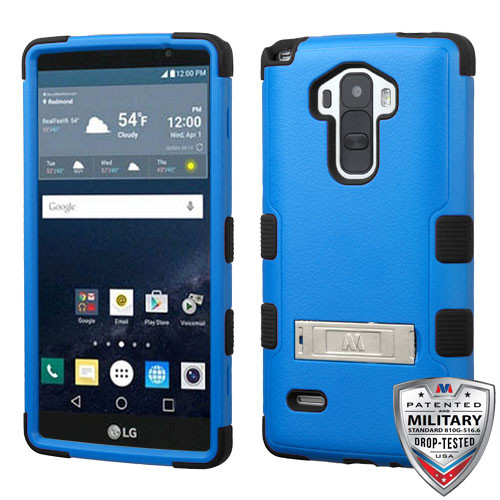 MyBat TUFF Hybrid Protector Cover (with Stand)[Military-Grade Certified] for Lg LS770 (G Stylo) - Natural Dark Blue / Black