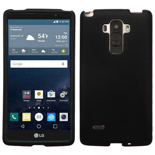 MyBat Protector Cover for Lg LS770 (G Stylo) - Rubberized Black