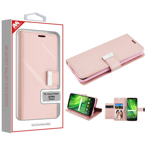 MyBat MyJacket Wallet Xtra Series for Motorola Moto E5 - Rose Gold