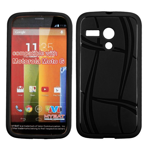 MyBat Candy Skin Cover for Motorola Moto G - Black Basketball Texture
