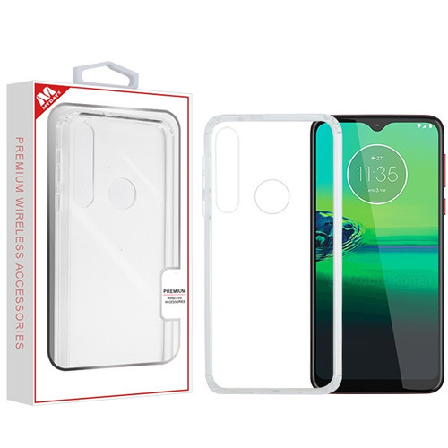 MyBat Sturdy Gummy Cover for Motorola Moto G8 Play - Highly Transparent Clear / Transparent Clear