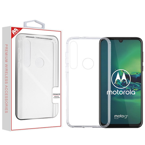 MyBat Sturdy Gummy Cover for Motorola Moto G8 Plus - Highly Transparent Clear / Transparent Clear