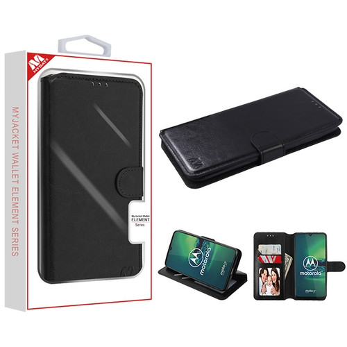 MyBat MyJacket Wallet Element Series for Motorola Moto G8 Plus - Black