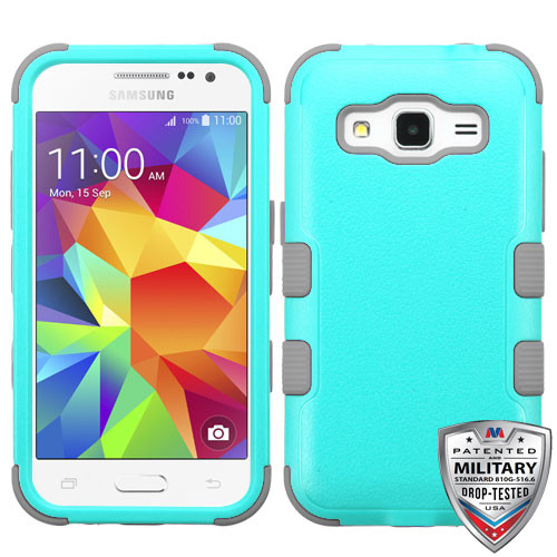 MyBat TUFF Hybrid Protector Cover [Military-Grade Certified] for Samsung G360 (Prevail LTE) - Natural Teal Green / Iron Gray