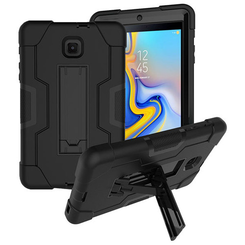 MyBat Symbiosis Stand Protector Cover for Samsung T387 (Galaxy Tab A 8.0 (2018)) - Black / Black