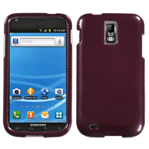 MyBat Protector Cover for Samsung T989 (Galaxy S II) - Carbon Fiber / Red