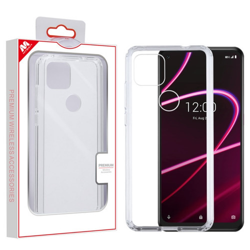 MyBat Sturdy Gummy Case for T-mobile Revvl 5G - Highly Transparent Clear / Transparent Clear