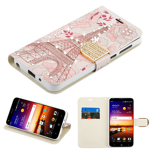 MyBat MyJacket Wallet Diamond Series for Zte Fanfare 3 - Eiffel Tower