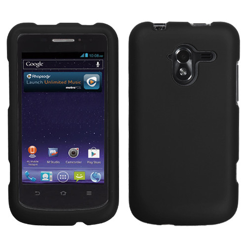 MyBat Protector Cover for Zte N9120 (Avid 4G) - Rubberized Black