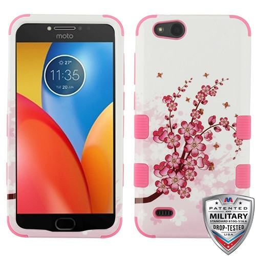 MyBat TUFF Hybrid Protector Cover [Military-Grade Certified] for Zte N9137 (Tempo X) - Spring Flowers / Electric Pink