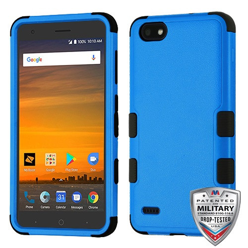 MyBat TUFF Hybrid Protector Cover [Military-Grade Certified] for Zte N9517 (Blade Force) - Natural Dark Blue / Black