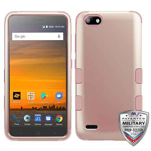 MyBat TUFF Hybrid Protector Cover [Military-Grade Certified] for Zte N9517 (Blade Force) - Rose Gold / Rose Gold