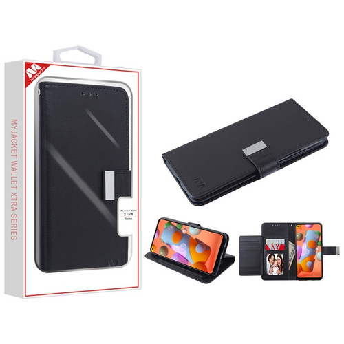 MyBat MyJacket Wallet Xtra Series for Samsung Galaxy A11 - Black / Black