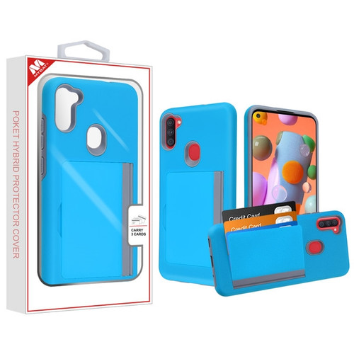 MyBat Poket Hybrid Protector Cover (with Back Film) for Samsung Galaxy A11 - Blue / Gray