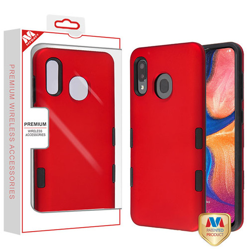 MyBat TUFF Subs Hybrid Case for Samsung Galaxy A20 - Titanium Red / Black