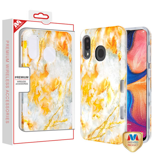 MyBat TUFF Subs Hybrid Case for Samsung Galaxy A20 - Nuvolato Etrusco Marble / Transparent Clear