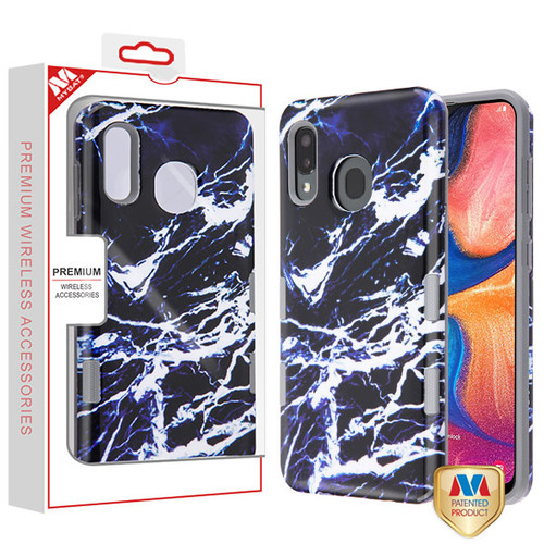 MyBat TUFF Subs Hybrid Case for Samsung Galaxy A20 - Najafabad Marble / Iron Gray