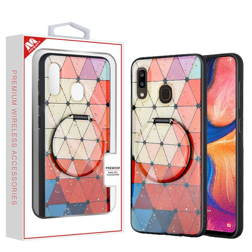 MyBat Mirror Hybrid Case for Samsung Galaxy A20 - Triangle Squad