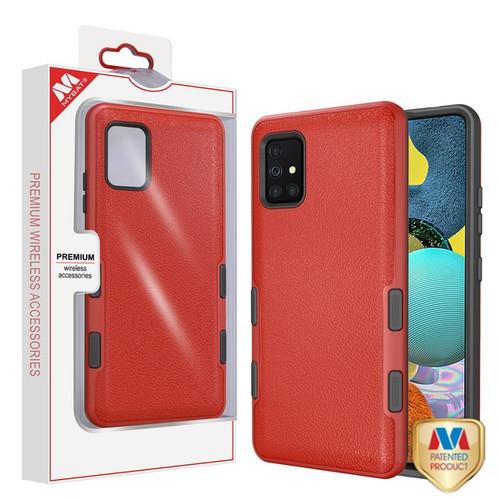 MyBat TUFF Subs Hybrid Case for Samsung Galaxy A51 5G - Natural Red / Black