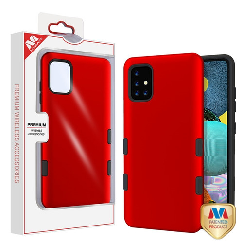 MyBat TUFF Subs Hybrid Case for Samsung Galaxy A51 5G - Titanium Red / Black
