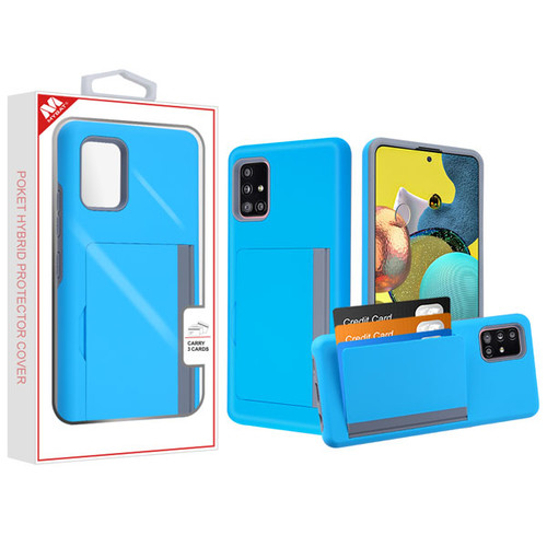 MyBat Poket Hybrid Protector Cover (with Back Film) for Samsung Galaxy A51 5G - Blue / Gray