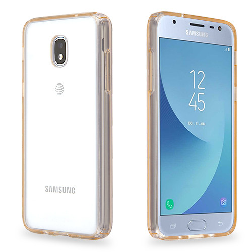 MyBat Sturdy Gummy Cover for Samsung J337 (Galaxy J3 (2018)) - Highly Transparent Clear / Transparent Rose Gold
