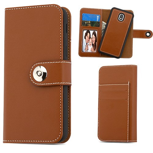 MyBat Detachable Magnetic 2 - in - 1 MyJacket Wallet (TPU Case + Leather Folio) for Samsung J337 (Galaxy J3 (2018)) - Brown