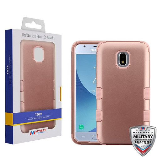 MyBat TUFF Hybrid Protector Cover [Military-Grade Certified] for Samsung J337 (Galaxy J3 (2018)) - Rose Gold / Rose Gold