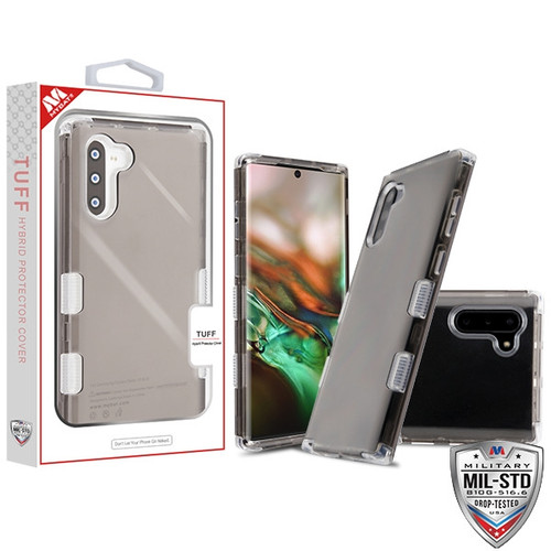 MyBat TUFF Lucid Hybrid Protector Cover [Military-Grade Certified] for Samsung Galaxy Note 10 (6.3) - Transparent Smoke / Transparent Clear