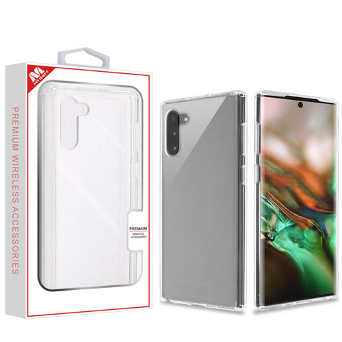 MyBat Sturdy Gummy Cover for Samsung Galaxy Note 10 (6.3) - Highly Transparent Clear / Transparent Clear