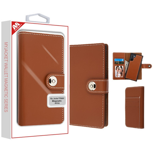 MyBat Detachable Magnetic 2 - in - 1 MyJacket Wallet (TPU Case + Leather Folio) for Samsung Galaxy Note 10 (6.3) - Brown