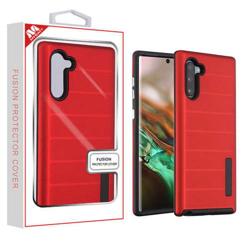 MyBat Fusion Protector Cover for Samsung Galaxy Note 10 (6.3) - Red Dots Textured / Black