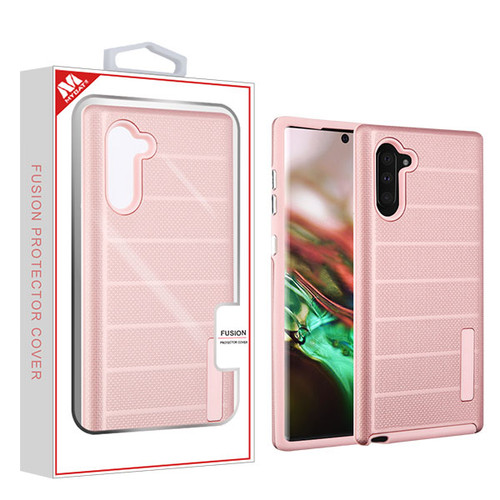 MyBat Fusion Protector Cover for Samsung Galaxy Note 10 (6.3) - Rose Gold Dots Textured / Rose Gold
