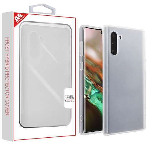 MyBat Frost Hybrid Protector Cover for Samsung Galaxy Note 10 (6.3) - Semi Transparent White Frosted / Rubberized Semi Transparent White