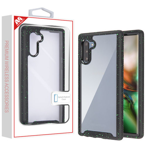 MyBat Splash Hybrid Case for Samsung Galaxy Note 10 (6.3) - Highly Transparent Clear / Black