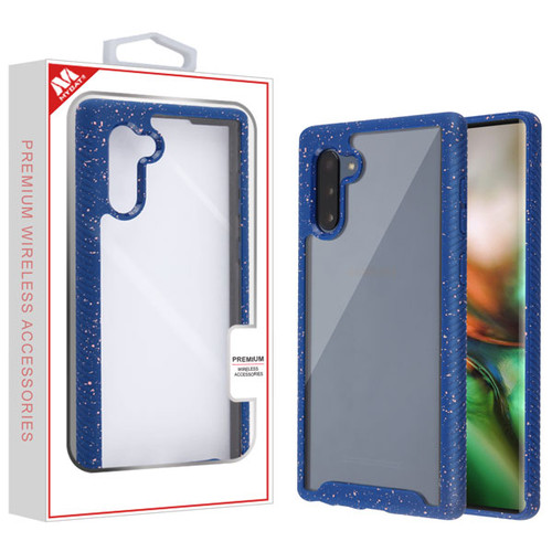 MyBat Splash Hybrid Case for Samsung Galaxy Note 10 (6.3) - Highly Transparent Clear / Blue