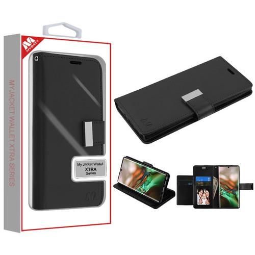 MyBat MyJacket Wallet Xtra Series for Samsung Galaxy Note 10 (6.3) - Black / Black