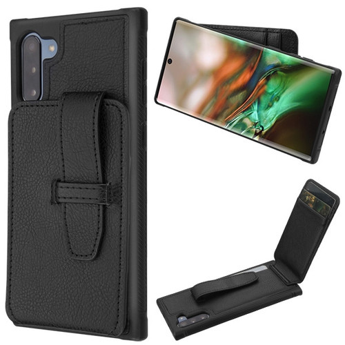 MyBat Cartera Wallet Cover (with buckles) for Samsung Galaxy Note 10 (6.3) - Black