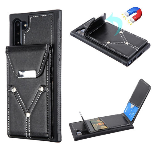 MyBat Buckle Wallet Cover (with Magnetic buckle) for Samsung Galaxy Note 10 (6.3) - Black