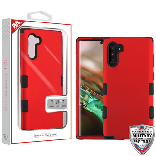 MyBat TUFF Hybrid Protector Cover [Military-Grade Certified] for Samsung Galaxy Note 10 (6.3) - Titanium Red / Black