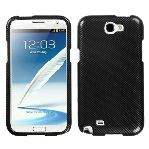 MyBat Protector Cover for Samsung Galaxy Note II (T889/I605/N7100) - Carbon Fiber