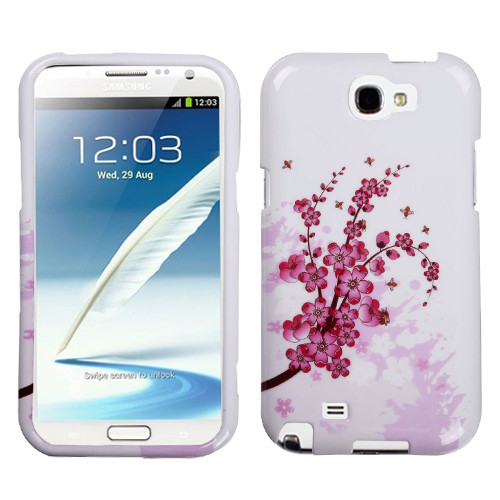 MyBat Protector Cover for Samsung Galaxy Note II (T889/I605/N7100) - Spring Flowers