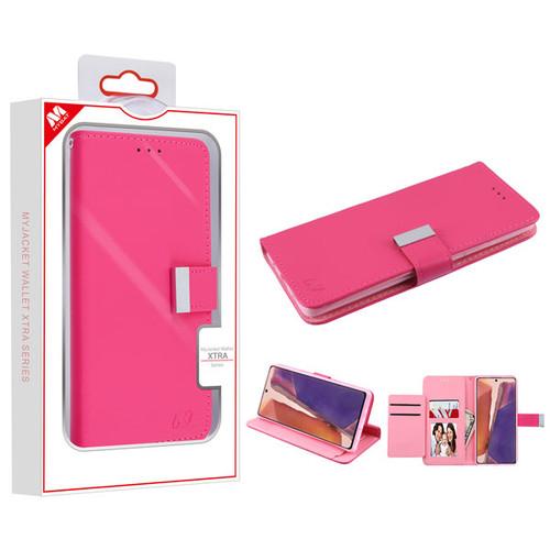 MyBat MyJacket Wallet Xtra Series for Samsung Galaxy Note 20 - Hot Pink / Pink