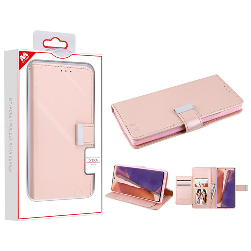 MyBat MyJacket Wallet Xtra Series for Samsung Galaxy Note 20 - Rose Gold