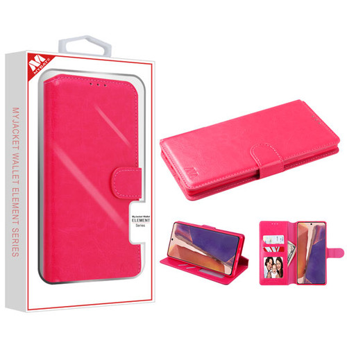MyBat MyJacket Wallet Element Series for Samsung Galaxy Note 20 - Hot Pink