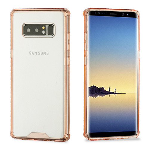 MyBat Sturdy Gummy Cover for Samsung Galaxy Note 8 - Highly Transparent Clear / Transparent Rose Gold