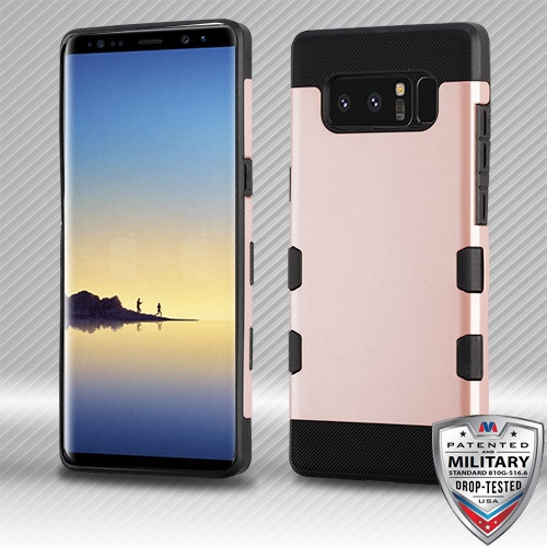 MyBat TUFF Trooper Hybrid Protector Cover [Military-Grade Certified] for Samsung Galaxy Note 8 - Rose Gold / Black